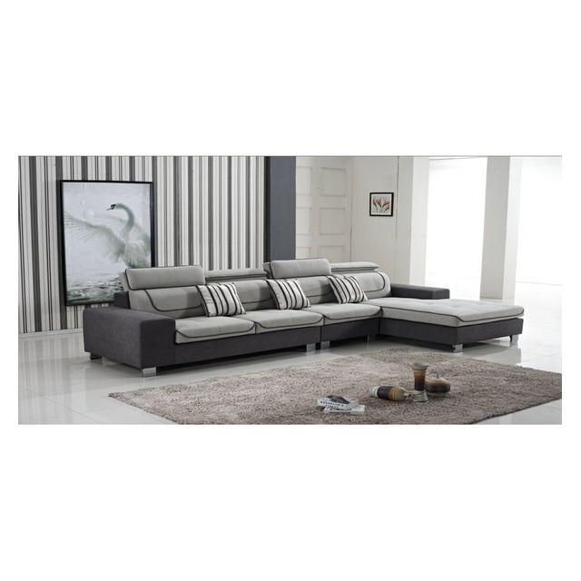 cosy tendance canap tissu avec chauffeuse cosy 857 369 185 90 cm angle angle gauche. Black Bedroom Furniture Sets. Home Design Ideas