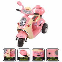 Cristom - Vespa moto électrique pour enfant /6 Volts ,mp3