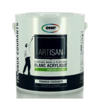 ONIP - Peinture acrylique blanche bicouche satinée, existe en 2,5 et 10L