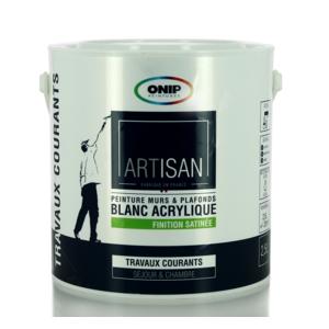 onip peinture acrylique blanche bicouche satin e existe en 2 5 et 10l pas cher achat. Black Bedroom Furniture Sets. Home Design Ideas