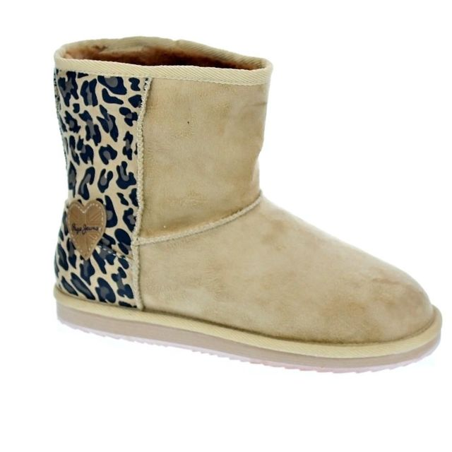 128e5eeb75f12 Pepe Jeans - Chaussures Pepe Jeans Fille Bottine modele Angel Lleopard