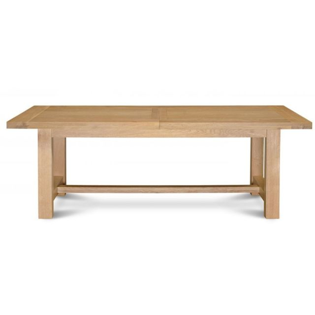 Hellin table extensible mansart bois ch ne clair massif for Table chene massif extensible