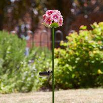 Smart Garden - Lot de 4 balises solaires Led à détecteur de crépuscule hauteur 85cm Fleurs