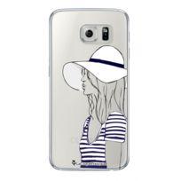 La Coque Francaise - Coque transparente Marinière pour Samsung Galaxy S6 Edge