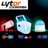 Lytor - Pack Jeux de lumière Derby Moon Flower Led Rumba
