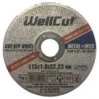WellCut - Disque Abrasif Metal + Inox - Taille - Ø 115 mm 115 x 1,0 x 22,23