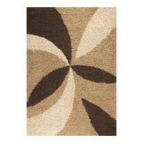 Allotapis - Tapis design shaggy beige Enjoy