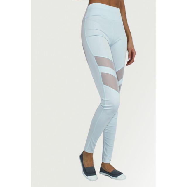 Kebello Legging de sport empiècement résille taille