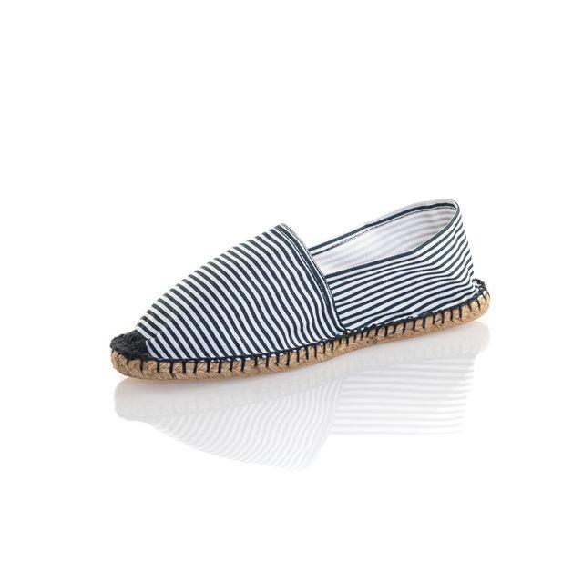 Reservoir Shoes Espadrille homme bleu et blanche à rayures