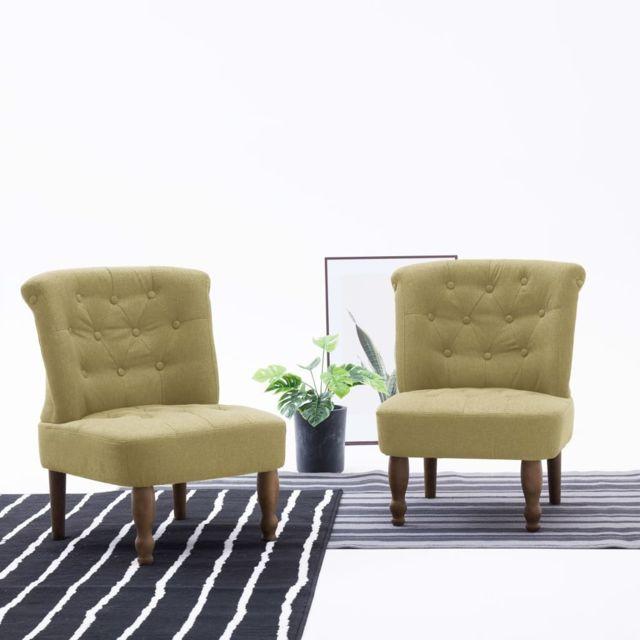 Superbe Fauteuils et chaises gamme Windhoek Chaise française Vert Tissu