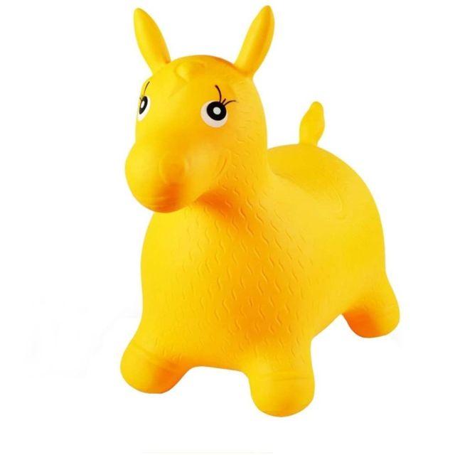 Sans Marque Ballon sauteur cheval enfant jaune pogo jouet bébé
