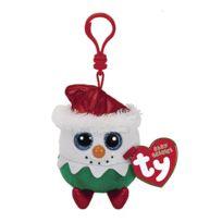 TY - Porte clés Beanie Boo's Eggnog le bonhomme de neige