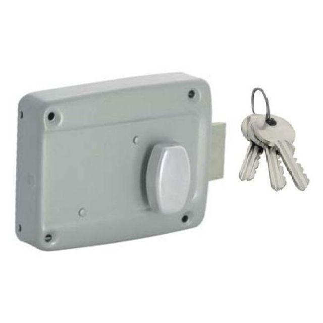 City serrure de suret horizontale iseo bouton poussoir porte garage coulissante droite - Cylindre de porte ...