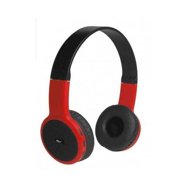 Evetane Casque Bluetooth Stereo Avec Micro Noir Et Rouge Pas