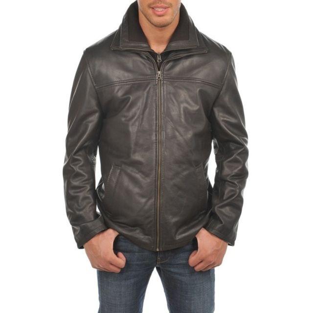 72677581f9 ARTURO - Blouson cuir Couleur - marron, Taille Homme - L - pas cher ...