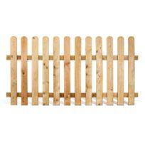 Jardipolys - Clôture en bois 180 x 100 cm - Stackette 100