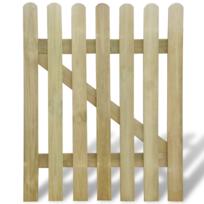 Rocambolesk - Superbe Portillon de jardin en bois 100 x 120 cm neuf
