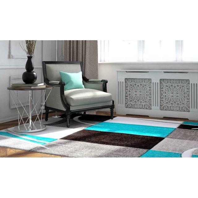 Flora Carpets - Tapis de Salon Moderne et Frisé 120X170 - Gris ...