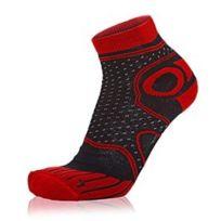 S8X - Chaussettes Trail Long noir rouge