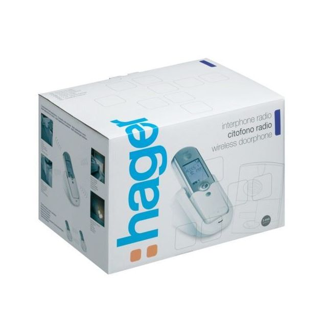 hager kit interphone sans fil port e 400m platine de. Black Bedroom Furniture Sets. Home Design Ideas