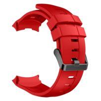 Bracelet Vertical Pour SiliconeLargeur24mm Bracelets Rouge De Montre Ambit3 Les Suunto xodBEQrCeW