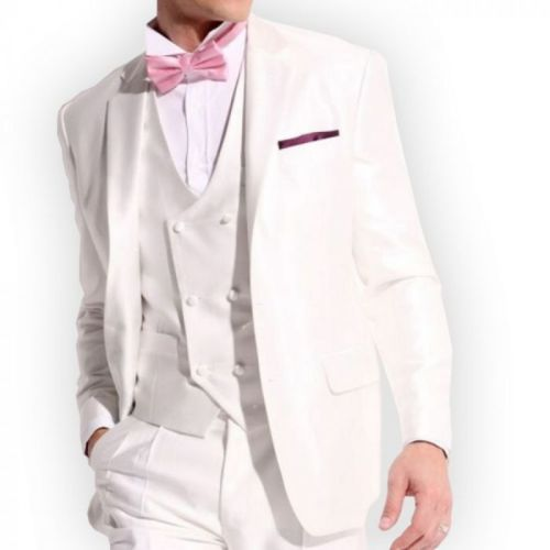 prestige man costume mariage blanc 3 pi ces pas cher achat vente costumes rueducommerce. Black Bedroom Furniture Sets. Home Design Ideas