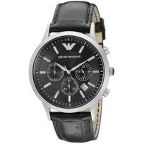 Bracelet montre cuir homme armani