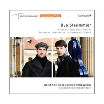 Genuin - Duo Staemmler. Oeuvres pour violoncelle et piano