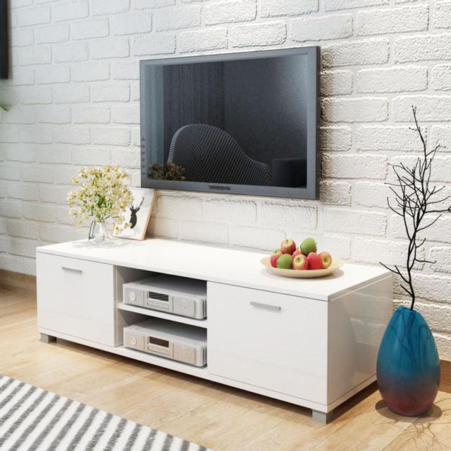 Vidaxl Meuble Tv à haute brillance blanc 140 x 40,3 34,7 cm