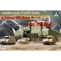 Takom - 1:144 - Wwii Landkreuzer P1000 Ratte & Pz Viii Maus