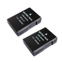 Oting - Lot de 2 Batteries Type Nikon En-el14