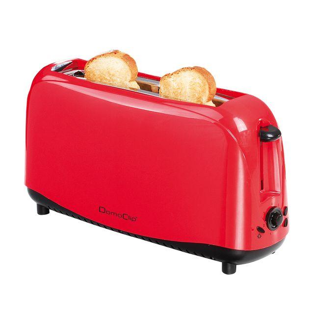 Domoclip Grille-pain rouge à large fente - Dod127R