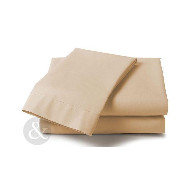 just contempo drap housse en polycoton poly coton taupe king size pas cher achat vente. Black Bedroom Furniture Sets. Home Design Ideas
