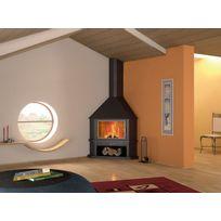 Focgrup - Grande cheminée métallique d'angle Inna+ 12 kW Ch52 Pci inox