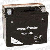 Power Thunder - Batterie Ytx12-BS Avec Acide