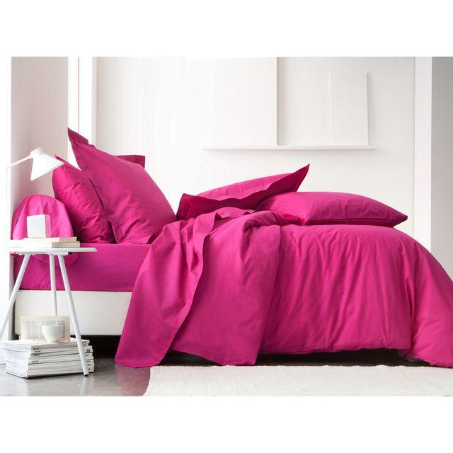 today parure de lit coton myrtille 140x200 plain pas cher achat vente parures de lits. Black Bedroom Furniture Sets. Home Design Ideas
