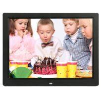 Wewoo - Cadre photo numérique noir 14 pouces Led affichage multimédia avec support et musique & lecteur vidéo, Usb / Sd / Ms / Mmc carte d'entrée