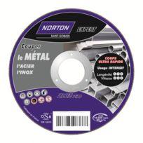 Norton Clipper - Disque de tronconnage Norton Expert Ø 125 Epaisseur 1.6 pour meuleuse d'angle pour acier - inox- 66252833045