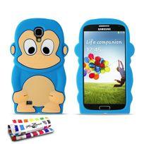 """Muzzano - Coque Souple """"Le Singe"""" Premium Bleu lagon pour Samsung Galaxy S4"""