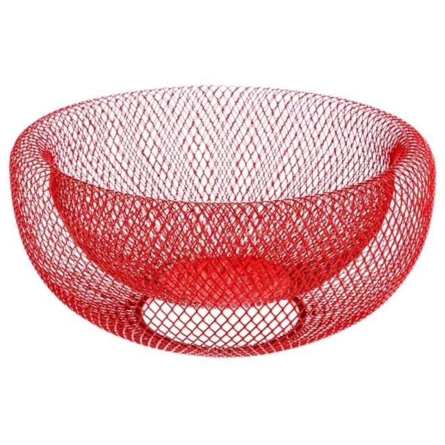 Corbeille mesh rouge - 27 x 13,5 cm - Métal - Rouge