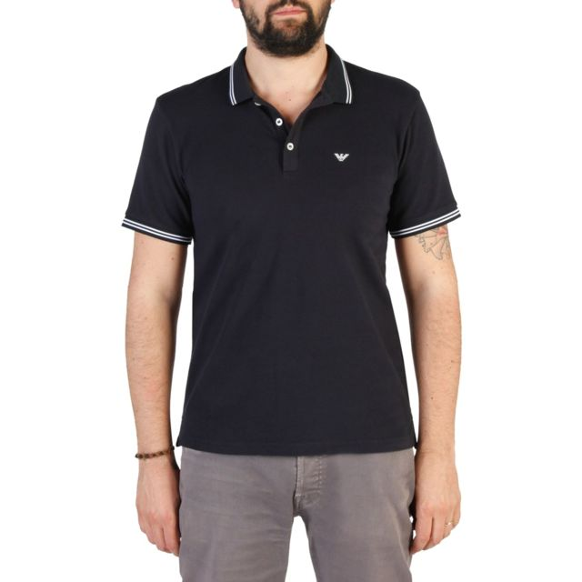 a3fc921f504c Armani Ea7 - Emporio - Polo homme 8N1F2B - bleu marine - pas cher Achat   Vente  Tee shirt homme - RueDuCommerce