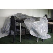 Titanium - Housse Table Ronde + Chaises Argent