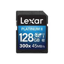 LEXAR - Carte mémoire SD 128Go Premium II SDXC 300X Class 10