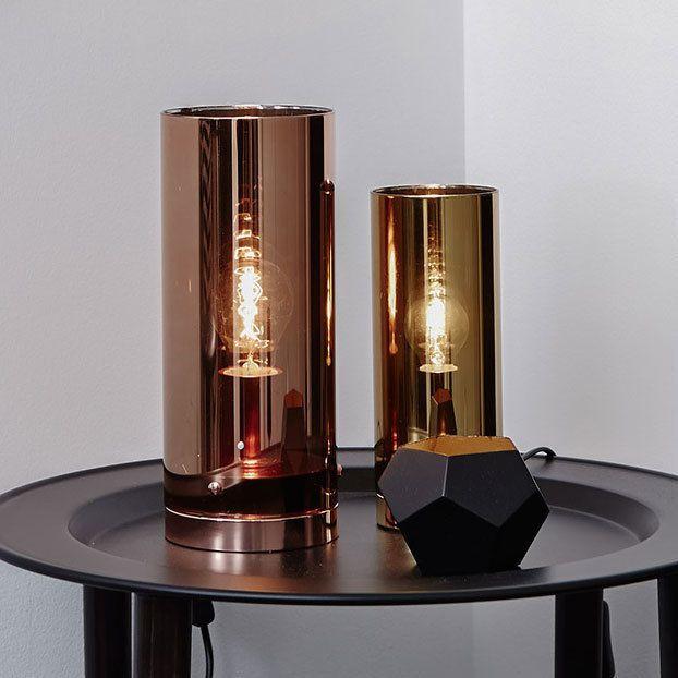 Poser Fumé Storm Cuivre Lampe Cylindre En 29cm À Verre QeErdBoxWC