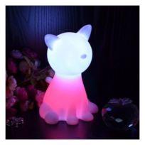 Kosilum - Lampe de chevet chat Led sans fil multicouleurs
