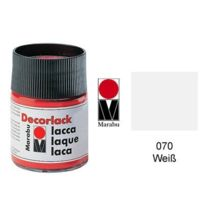 Marabu - decorlack Acryl : À Base D'EAU Acrylique Craft Paint 15ML Pot Blanc 113039070