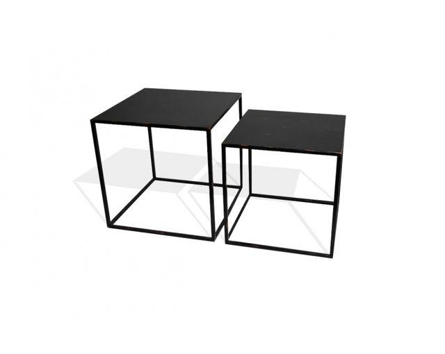 cc1acbbcdc9d69 Mose - Tables basses gigognes métal noir - pas cher Achat   Vente Meubles  TV, Hi-Fi - RueDuCommerce
