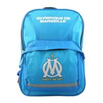 Olympique Marseille - Om Sac à dos scolaire école enfant garçon - Bleu