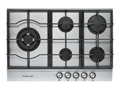 De dietrich table de cuisson gaz 72cm 5 feux inox dte1172x achat plaque de cuisson gaz - Table de cuisson gaz 5 feux inox 90 cm ...