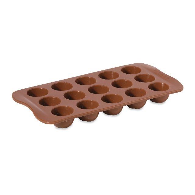 Baumalu Moule 15 chocolats ronds en Silicone Hp